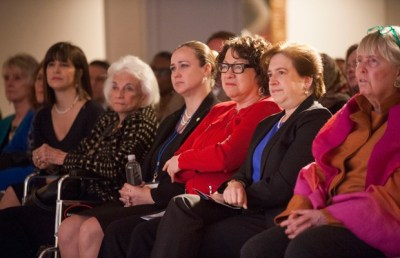 Supreme Court Justices Elena Kagan and Sonia Sotomayor sit with former Justice Sandra Day O'Connor and others at the Seneca Women Global Leadership Forum, April 2015, at the National Museum of Women in the Arts in Washington. (AP Photo)