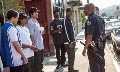 """A scene from the N.W.A. biopic """"Straight Outta Compton"""" (Jaimie Trueblood/AP Photo)"""