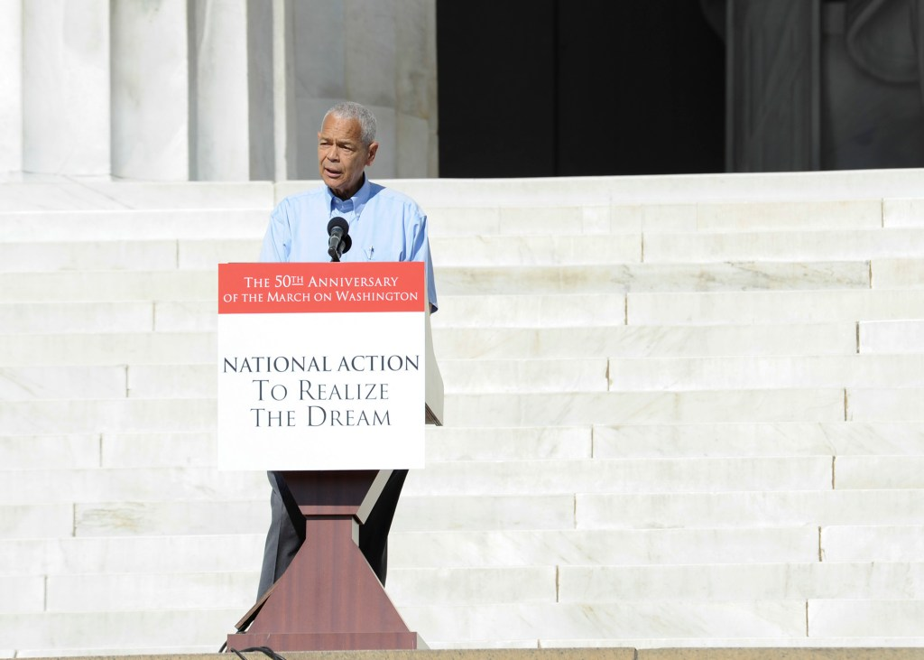 Civil rights leader Julian Bond speaks during the 50th Anniversary of the March on Washington on August 24, 2013. (Freddie Allen/NNPA)