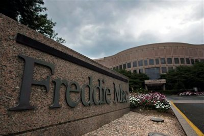 This July 13, 2008, file photo shows the Freddie Mac corporate office in McLean, Va. Freddie Mac reports quarterly financial results on Tuesday, Aug. 4, 2015. (AP Photo/Pablo Martinez Monsivais, File)
