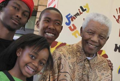 Mbuso Mandela (c.) is one of the late Nelson Mandela's 17 grandchildren. (Debbie Yazbek/AP)