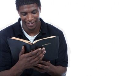 Black Man Reading Bible