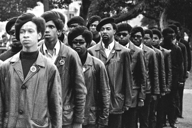 Panthers on parade at Free Huey rally in Defermery Park, Oakland on July 28, 1968. (Photo courtesy of Stephen Shames)