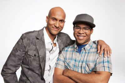 """This undated image released by Comedy Central shows Keegan-Michael Key, left, and Jordan Peele from the sketch comedy series """"Key & Peele."""" (AP Photo/Comedy Central, Ian White)"""