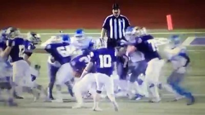 San Antonio Texas high school football players target ref because of a bad call.