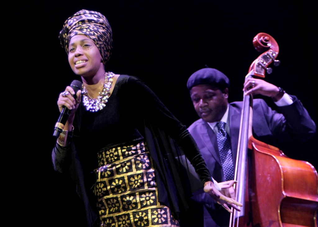 Finalist Jazzmeia Horn performs onstage during the Thelonious Monk Institute International Jazz Vocals Competition 2015 at Dolby Theatre on November 15, 2015 in Hollywood, Calif. (Rachel Murray/Getty Images/Thelonious Monk Institute of Jazz)