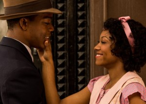 "Stephan James (left) and Shanice Banton star in the Jesse Owens biopic ""Race."" (Focus Features)"