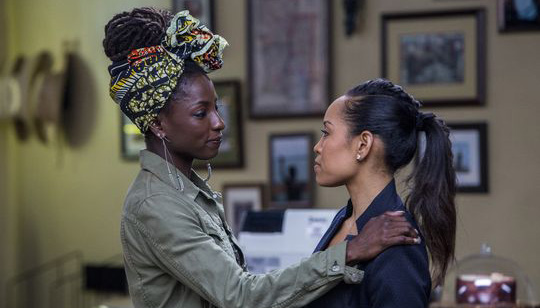 Rutina Wesley, (left) and Dawn-Lyen Gardner play sisters in OWN's 'Queen Sugar,' which is produced by Oprah Winfrey and Ava DuVernay. (Skip Bolen/Warner Bros./OWN)