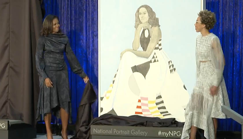 President Barack Obama and First Lady Michelle Obama Official Portraits Unveiled in Washington