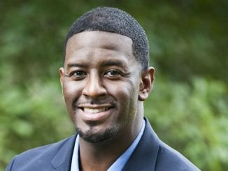 Andrew Gillum celebrates a stunning, come-from-behind victory as the Democratic candidate for Florida governor.