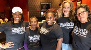Third Street business owners LaWanda Dickerson, owner of U3Fit, Ms. Bernadette, owner of the Jazz Room, April Spears, owner of Cafe Envy and Auntie April's, Teresa Goins, founder Old Skool Cafe, and Barbara Gratta, owner of Gratta Wines have come together to form a mighty coalition, the Merchants of Butchertown