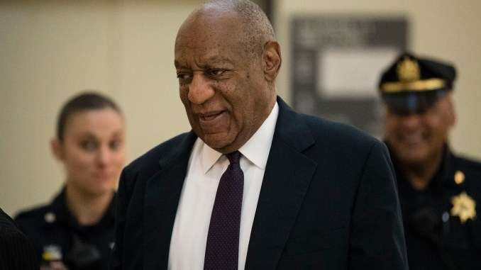 Bill Cosby walks to the courtroom during his sexual assault trial at the Montgomery County Courthouse in Norristown, Pa., Tuesday, June 6, 2017. (Pool)
