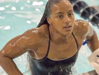 Howard University student and senior swimmer Latroya Pina