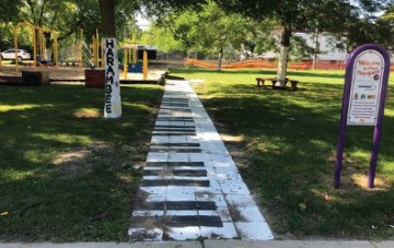 This piano installment may inspire a child or individual's interest in music. (Picture taken by Nyesha Stone)