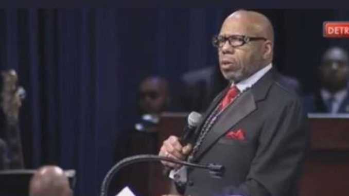 "Rev. Williams referenced black-on-black crime, said single mothers are incapable of raising sons alone and proclaimed that black America has lost its soul and it's ""now time for black America to come back home."""