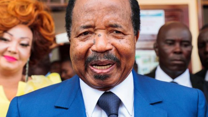 Cameroon Pres. Biya and wife Mariel