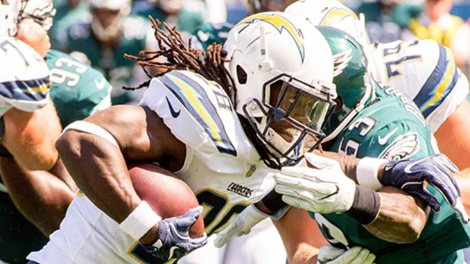 Chargers running back Melvin Gordon (28)
