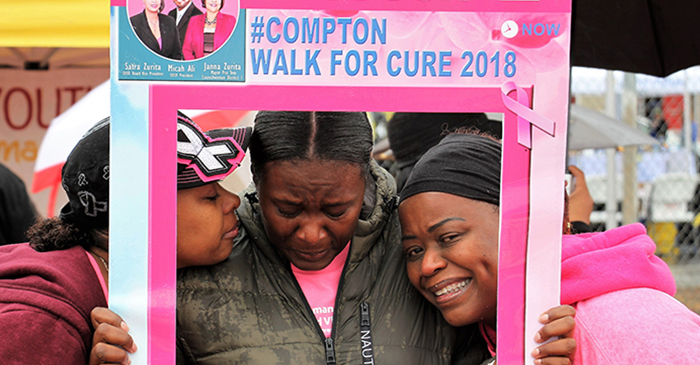 Compton Residents Walk to Find Cure for Cancer