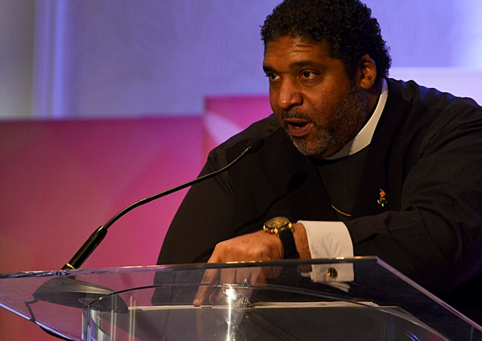 Reverend William Barber II, president of the North Carolina state chapter of the NAACP, delivered an electrifying speech during the 2017 NNPA Mid-Winter Conference in Fort Lauderdale, Fla. (Photo: Freddie Allen/AMG/NNPA)