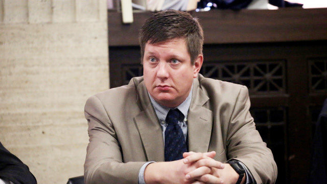 Jason Van Dyke convicted of second-degree murder and all 16 counts of aggravated battery and one count of police misconduct. (Photo by Nancy Stone/Pool/Chicago Tribune)