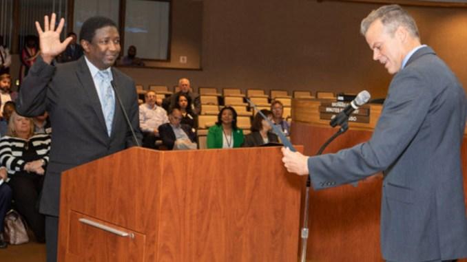 Dale V.C. Holness sworn in as Broward County mayor.