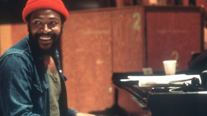 Soul singer and songwriter Marvin Gaye at Golden West Studios in 1973 in Los Angeles, California