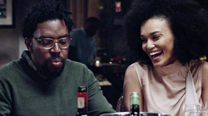 Kagiso Lediga and Pearl Thusi in 'Catching Feelings' / Netflix