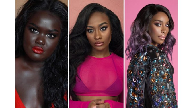 The beauty industry often shuts out women with darker complexions, but Nyma Tang, Monica Veloz and Jackie Aina are video bloggers working to change that. From left: Nyma Tang; Juan Veloz; Angela Marklew