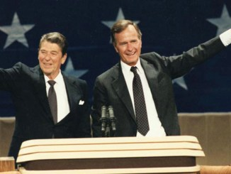 President Ronald Reagan and Vice President George Bush at the 1984 Republican National Convention in Dallas, Texas August 23, 1984. (Photo: Wikimedia Commons)