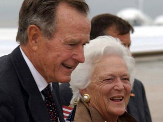 George H.W. Bush and Barbara Bush.