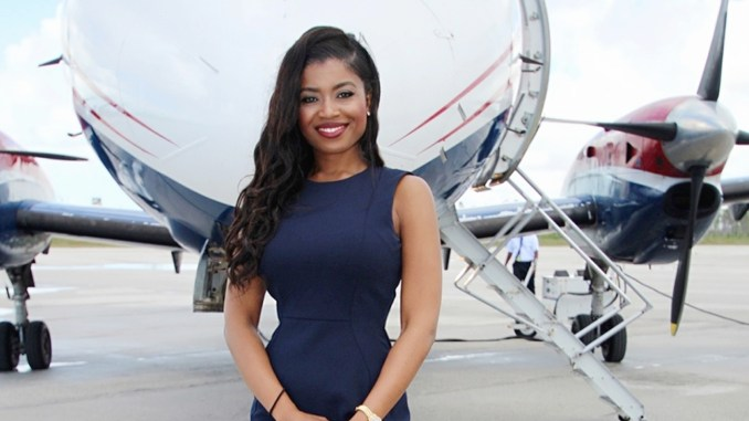 "At 30, Sherrexcia ""Rexy"" Rolle serves as vice president of operations and general counsel of Western Air Limited, her family's company and the largest privately-owned airline in the Bahamas. (Photos: Instagram and Twitter)"