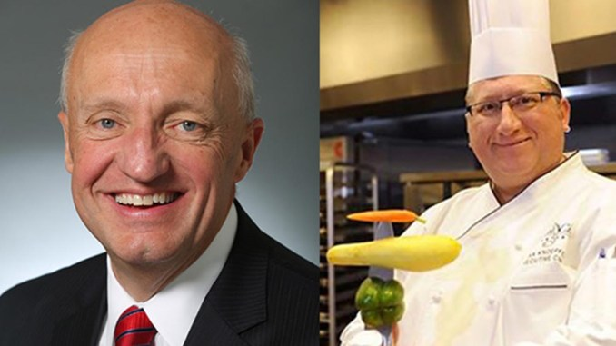 Charles Starks President/CEO of the Music City Center, left, and Chef Max Knoepfel Executive Chef of the Music City Center