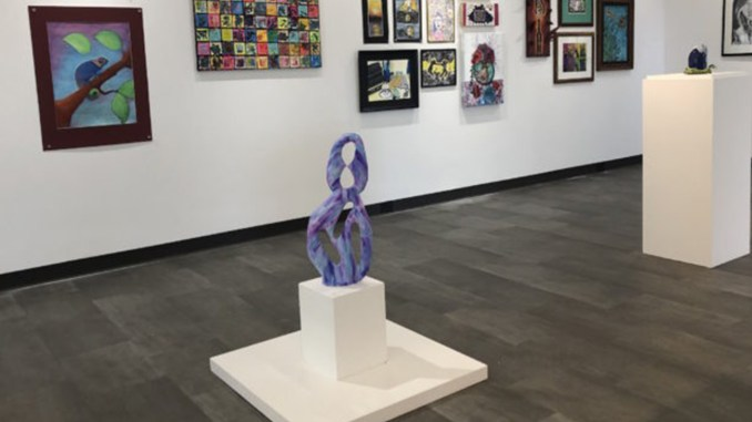 HIGH SCHOOL STUDENTS from NWI will show their work on the IU campus March 11 through March 23. The art represents the work of 59 students from 15 schools. Exhibit hours in the School of the Arts Gallery, Arts and Sciences building, 2nd floor, are 1 to 5 p.m. Monday through Friday, and 12 to 3 p.m. Saturday, March 18 and 23.