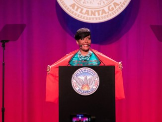 """""""The best is yet to come,"""" said Atlanta Mayor Keisha Lance Bottoms, who delivered her second """"State of the City"""" address on Thursday, March 14, at the Georgia World Congress Center in downtown Atlanta. (City of Atlanta)"""