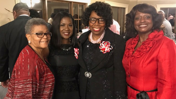 """Doris Hill (third from left) teaches a message of empowerment born out of adversity. """"If you want to live, we have to act like we want to live. We can't sit around waiting to die. Live every minute that the Lord gives you breath,\"""" she said. (Courtesy photo)"""