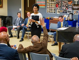 FBI Special Agent in Charge Voviette Morgan speaks to attendees of the FBI Faith Based and Community Initiative at Holman United Methodist Church on March 26, 2019. (photo courtesy of FBI)