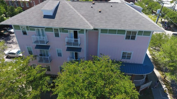 Aerial view of Rutledge Place Apartments at 554 Rutledge Avenue