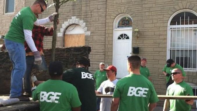 BGE Employees Volunteering (Photo Courtesy of BGE)