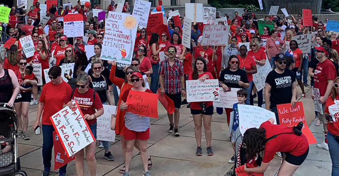 MNPS teachers hold rally demanding higher pay