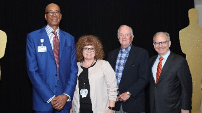 l-r Dr Joseph Webb, Sandra Peach, Wilford Fuqua and Mayor David Briley. (photo by Roland's Photography)