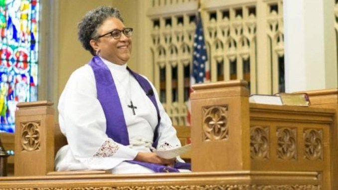 """I just feel so excited and so hopeful about the opportunity to partner with others to present the Episcopal Church to those who would not have otherwise considered be- coming a part of this denomination."" – Bishop-elect Phoebe Roaf (Photo: Cindy McMillion)"