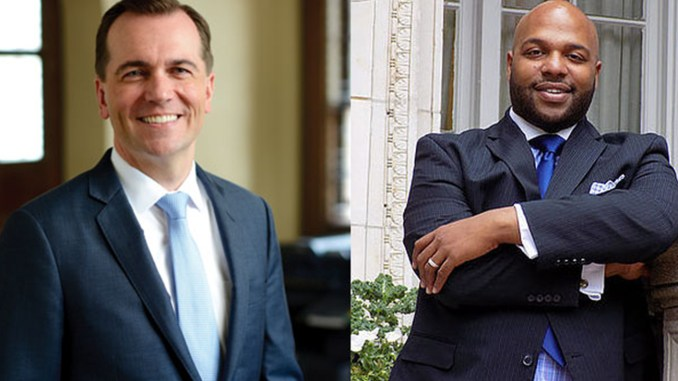 (l-r) State Rep. and mayoral candidate John Ray Clemmons and Rev. Leon F. Parker III.