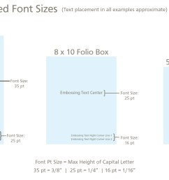 for font size and placement see our embossing guide  [ 2749 x 1401 Pixel ]