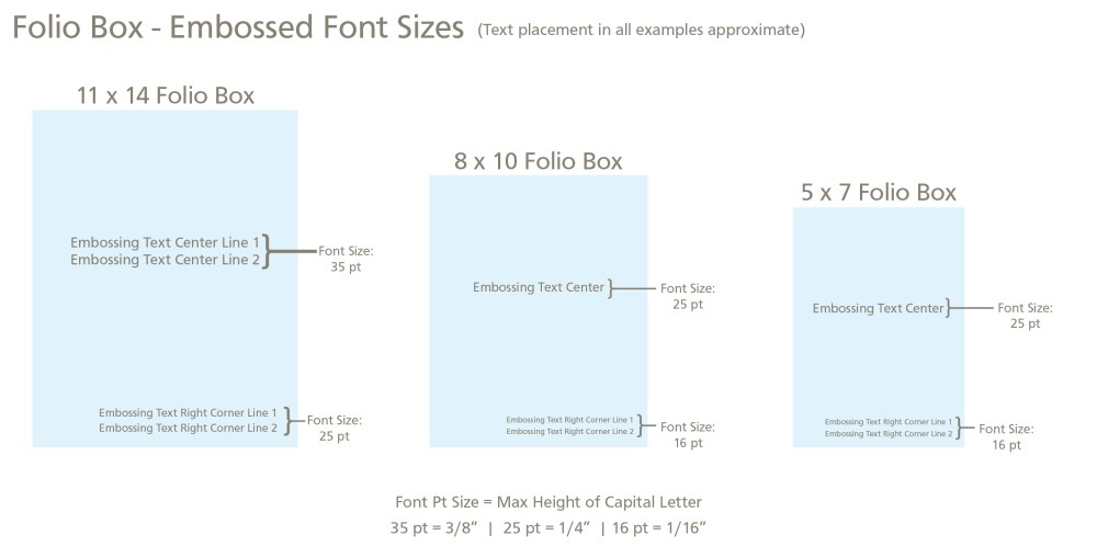 medium resolution of for font size and placement see our embossing guide