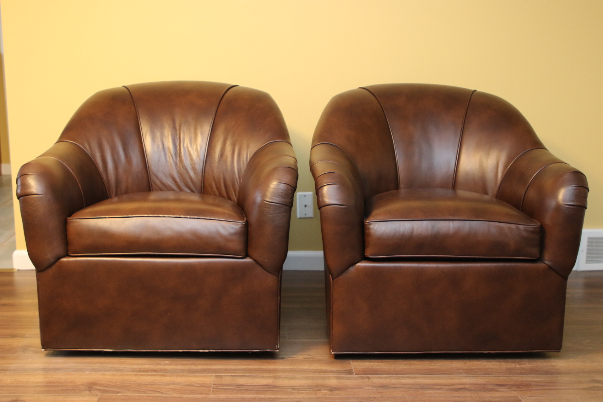 swivel chair high back recliner chairs cheap pair of ethan allen leather tub | black rock galleries