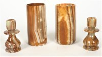 Set Of Four Alabaster Candle Holders | Black Rock Galleries