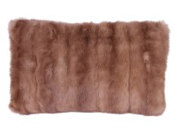 Light Brown Fur Pillow | Black Rock Galleries
