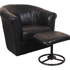 Italsofa Leather Chair Accent Sofa Pillows Black Swivel Tub With Compatible