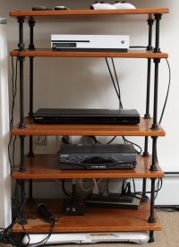 Salamander Designs Five Tier Industrial Style TV Stand