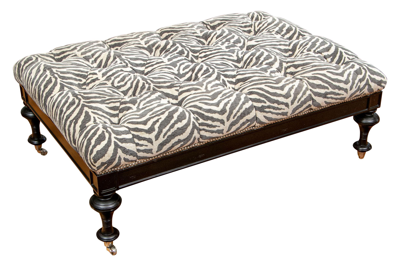 stylish oversized zebra print tufted